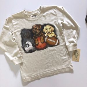 NWT Boys Wes & Willy Dogs Sports Balls T-Shirt 4T